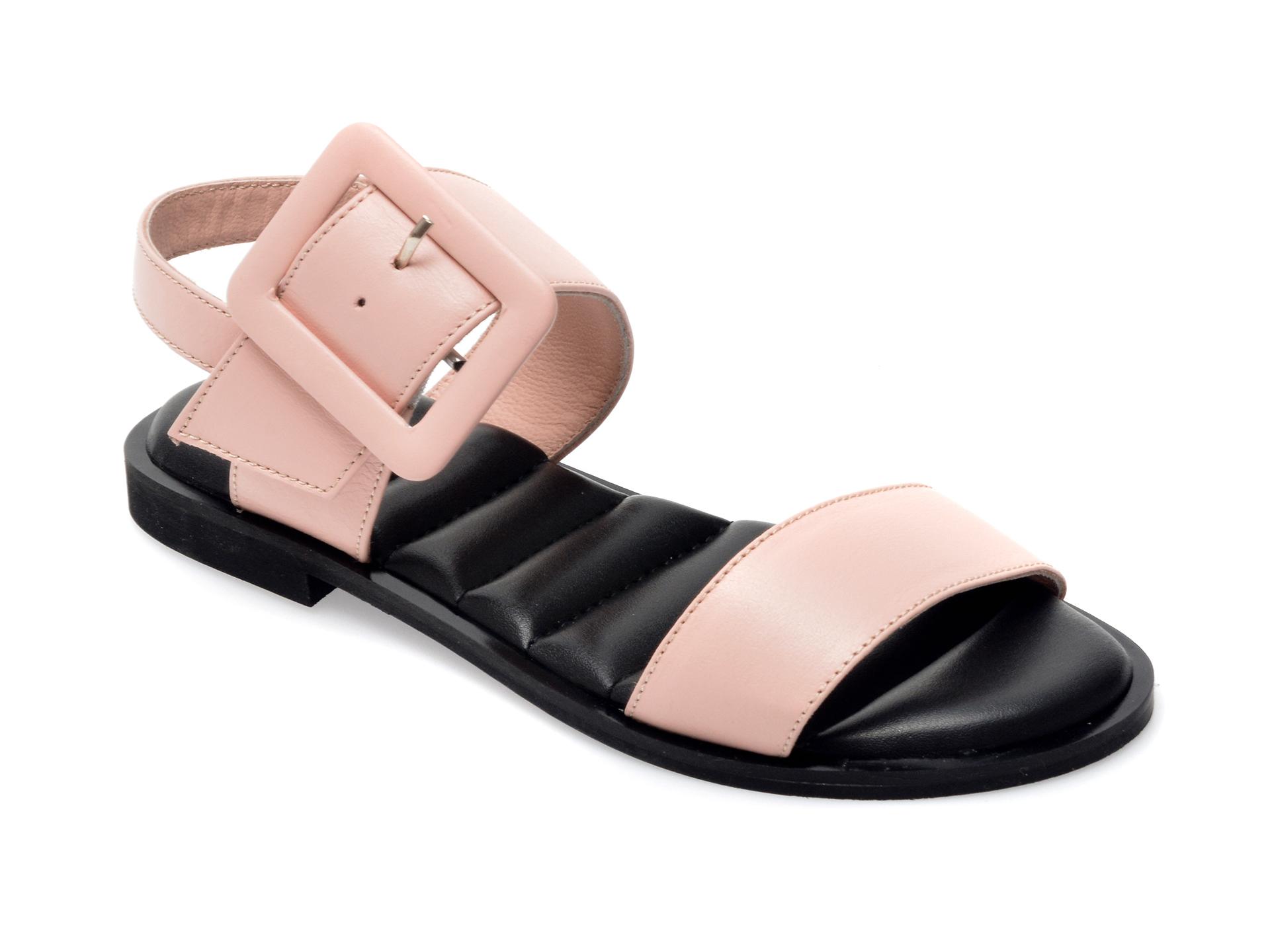 Sandale UNICA nude, A6628, din piele naturala imagine otter.ro 2021