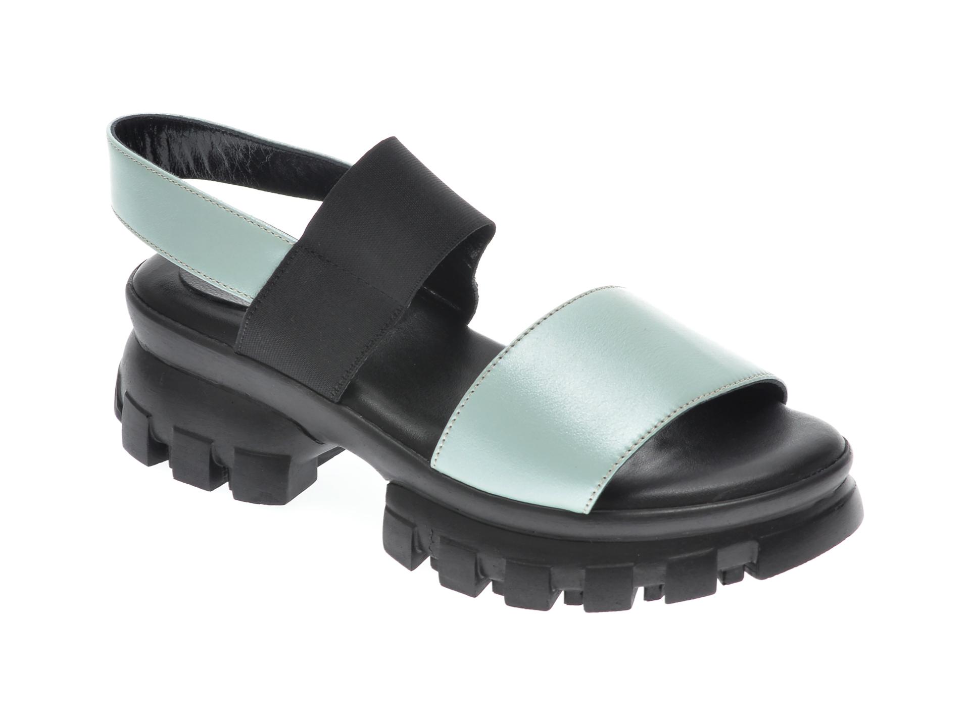 Sandale UNICA verzi, A6034, din piele naturala