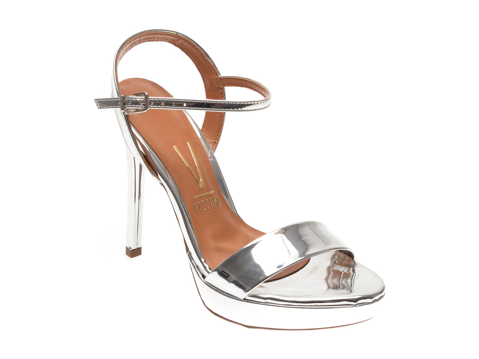 Sandale VIZZANO argintii, 6326100, din piele ecologica