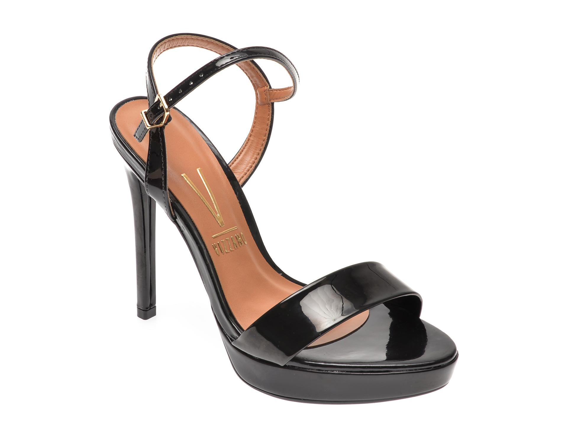 Sandale VIZZANO negre, 6326100, din piele ecologica