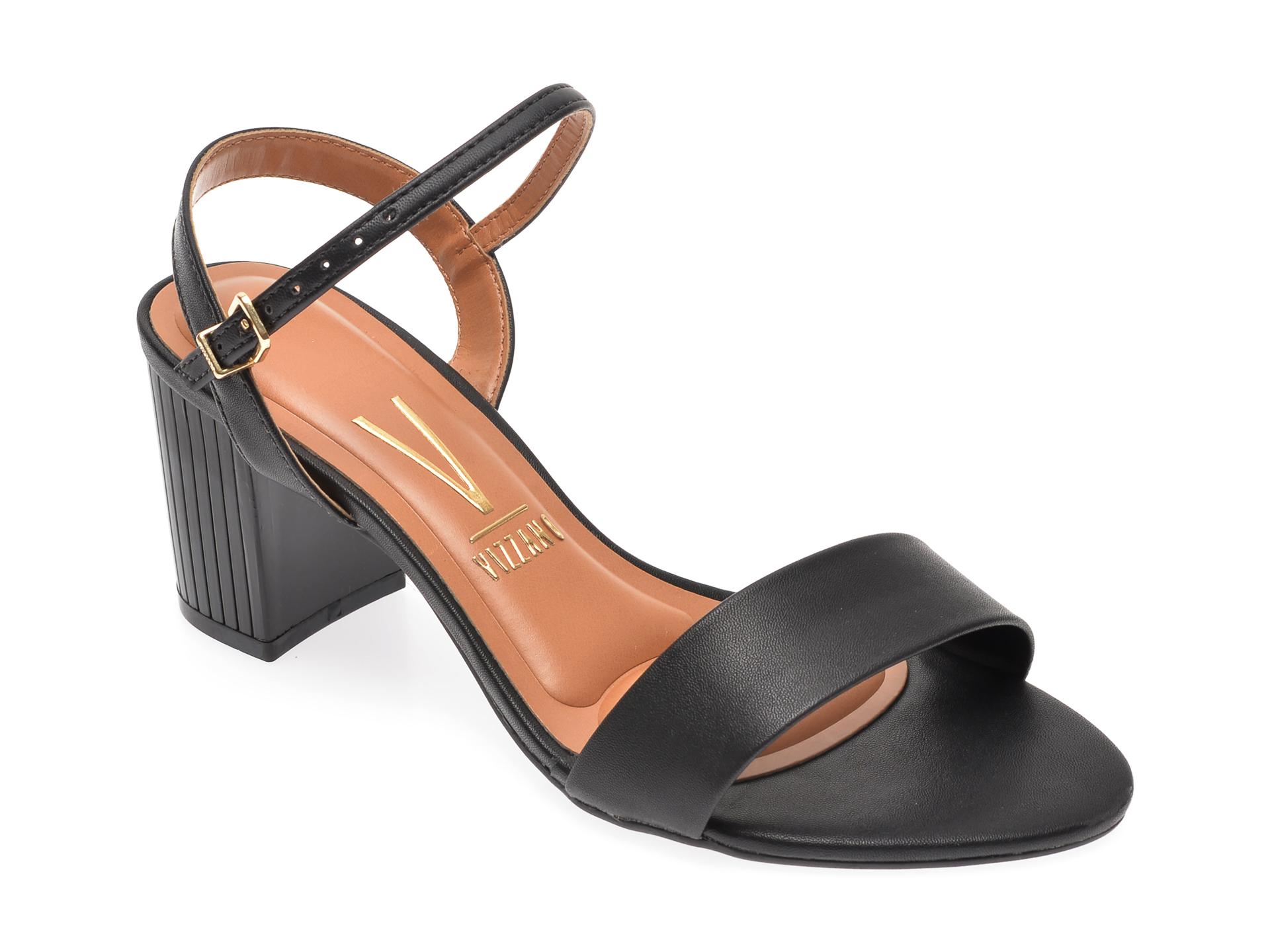 Sandale VIZZANO negre, 6375304, din piele ecologica