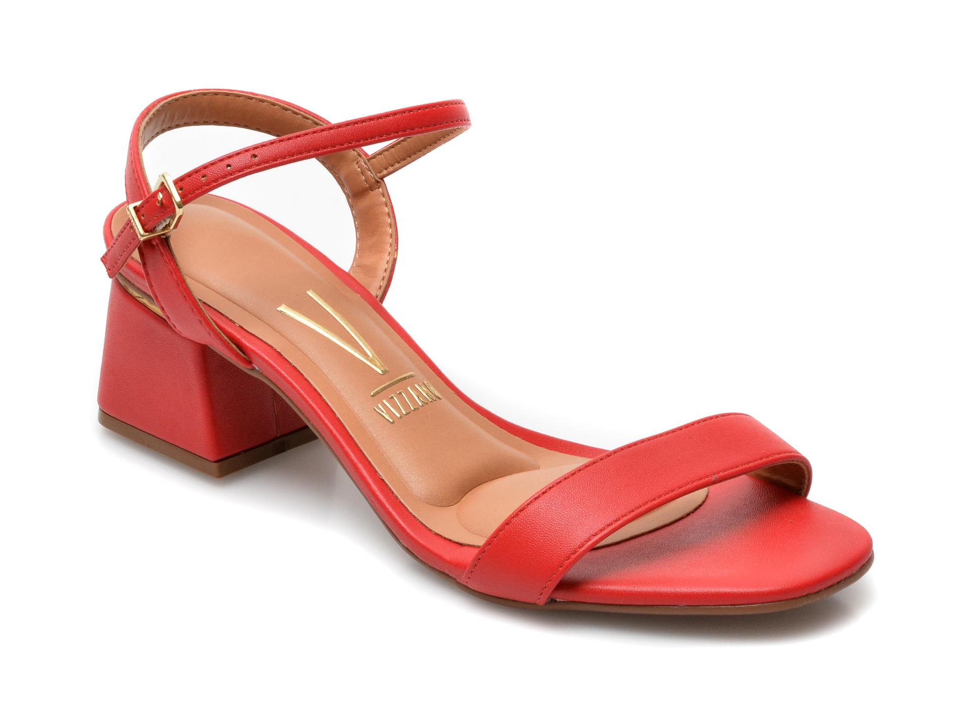 Sandale VIZZANO rosii, 6428101, din piele ecologica imagine 2021 otter.ro