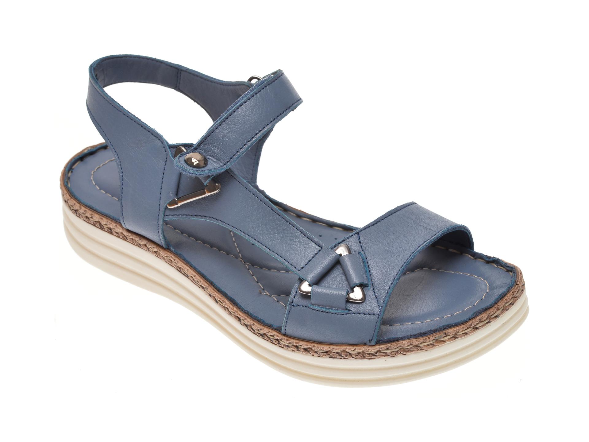 Sandale X TREND albastre, 513, din piele naturala