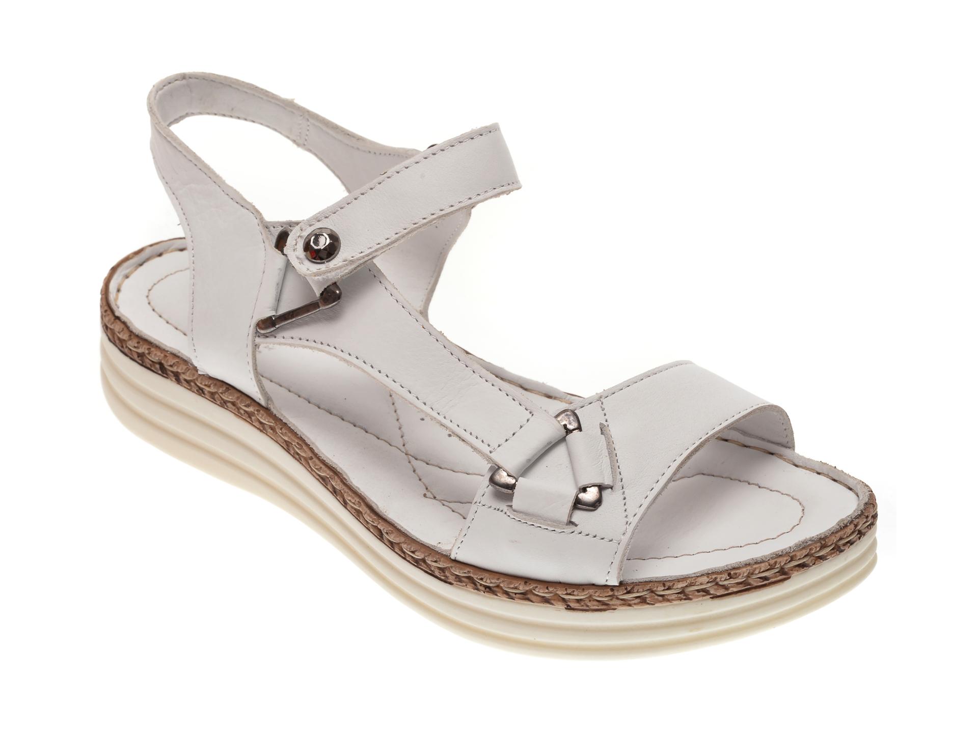 Sandale X TREND albe, 513, din piele naturala