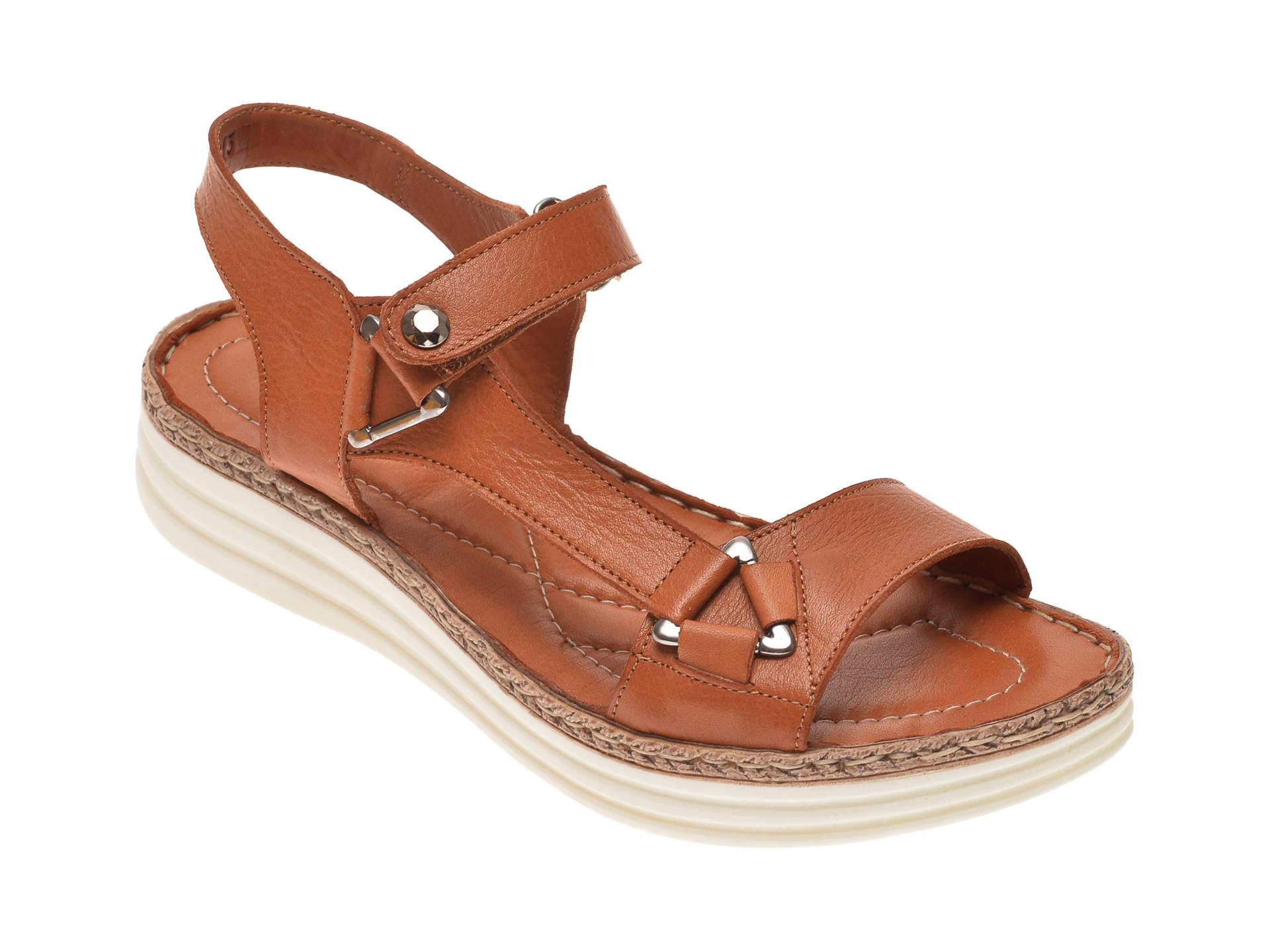Sandale X TREND maro, 513, din piele naturala New