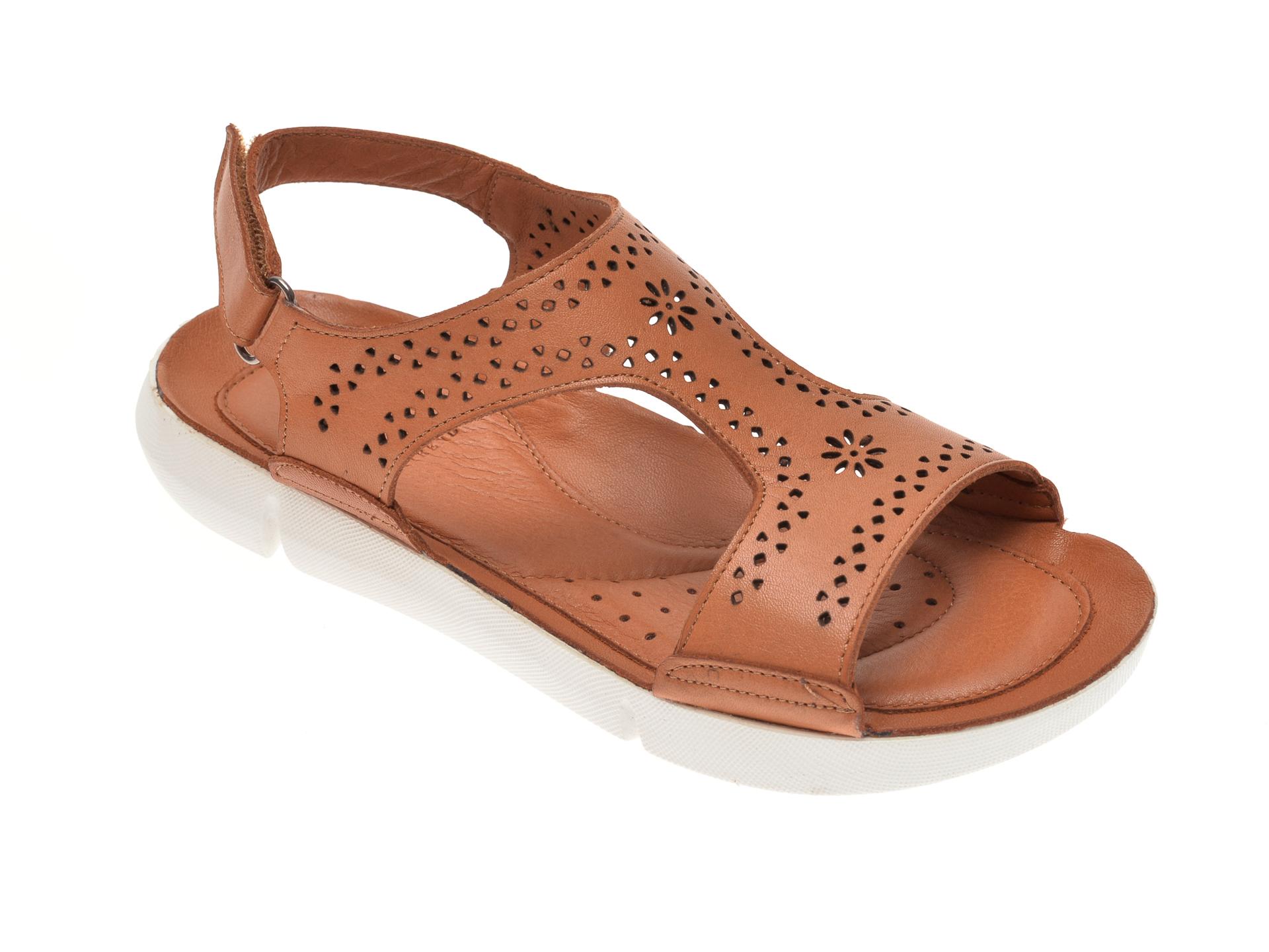 Sandale X TREND maro, 60001, din piele naturala