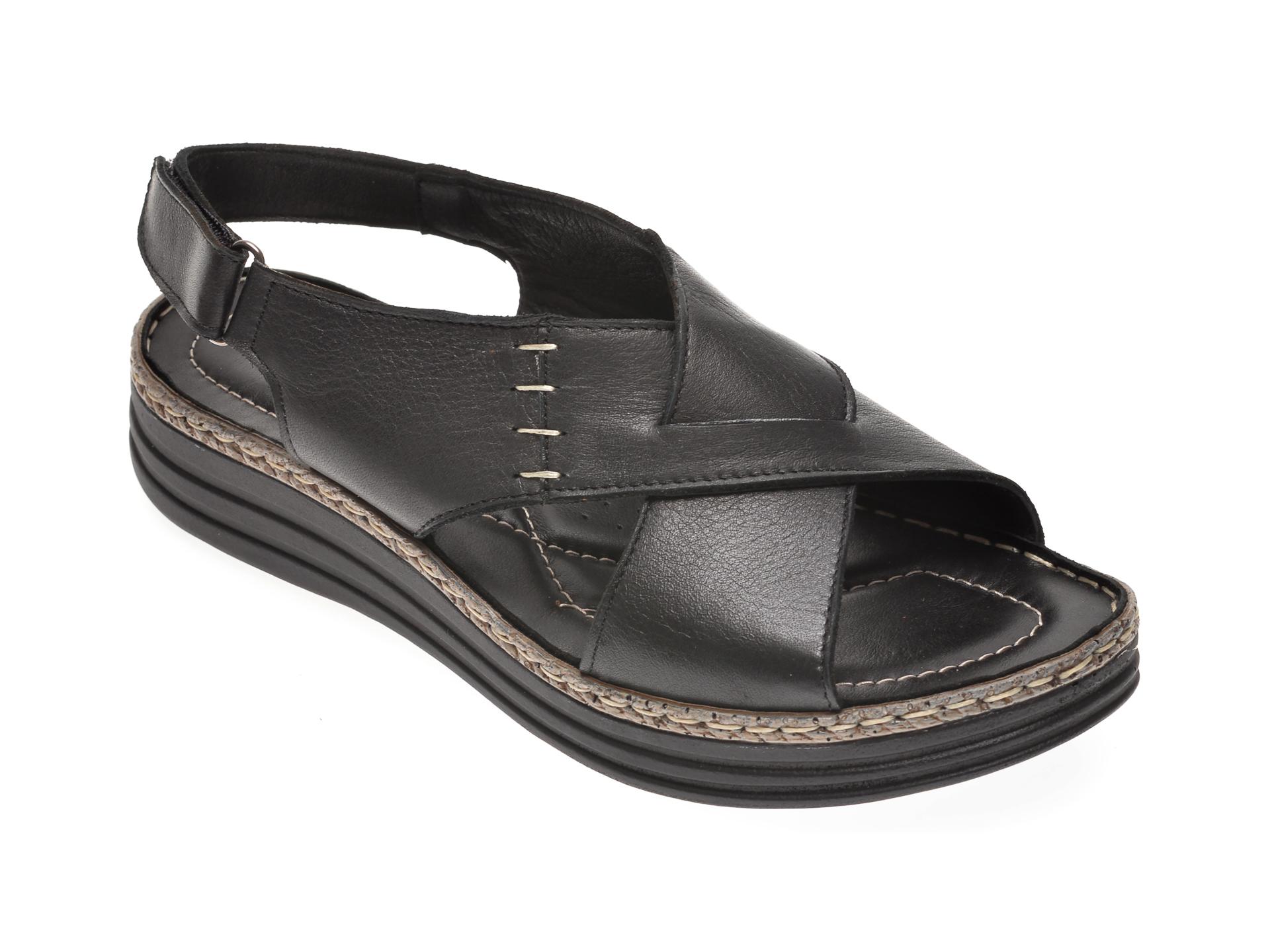 Sandale X TREND negre, 512, din piele naturala