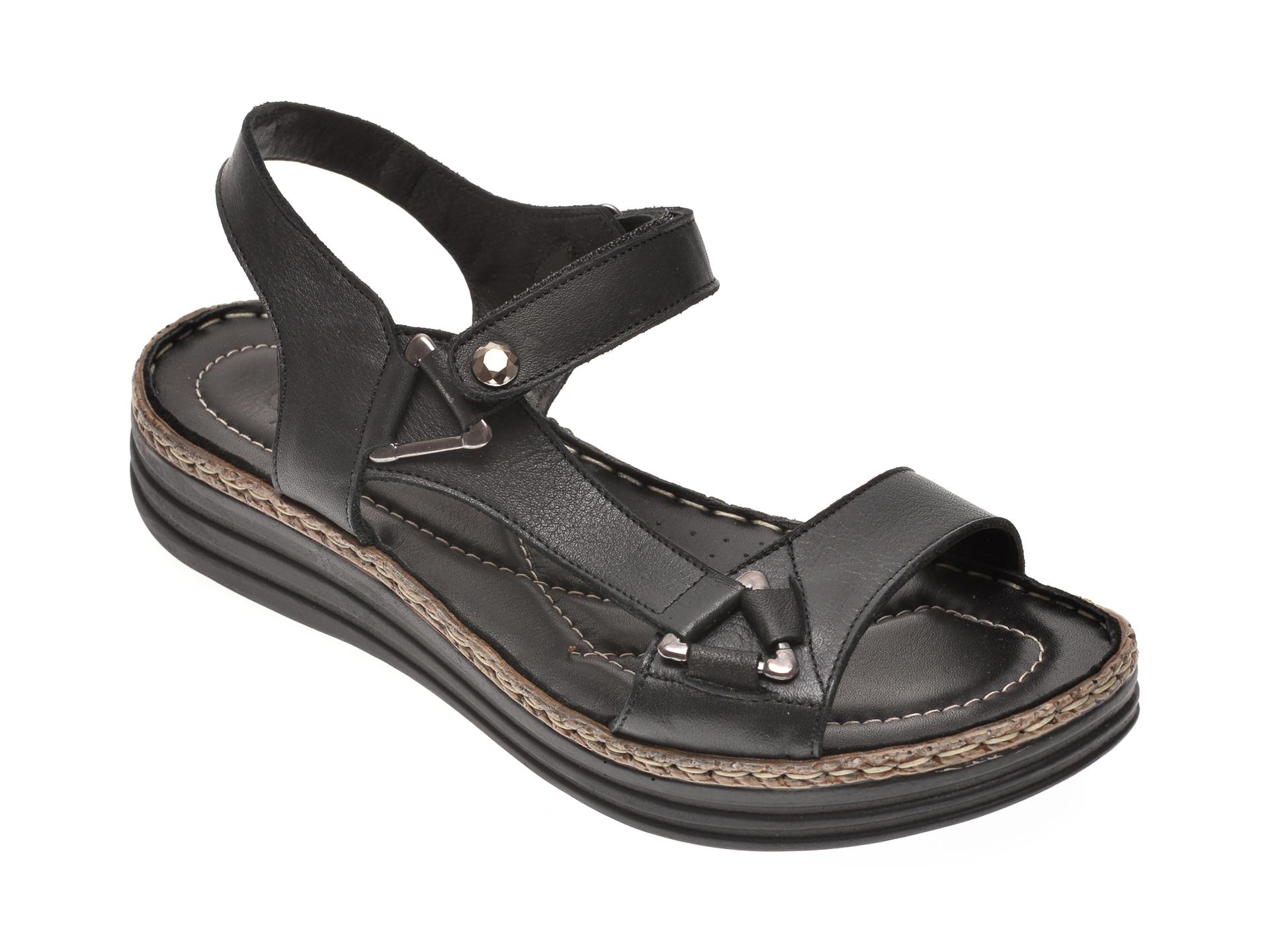 Sandale X TREND negre, 513, din piele naturala