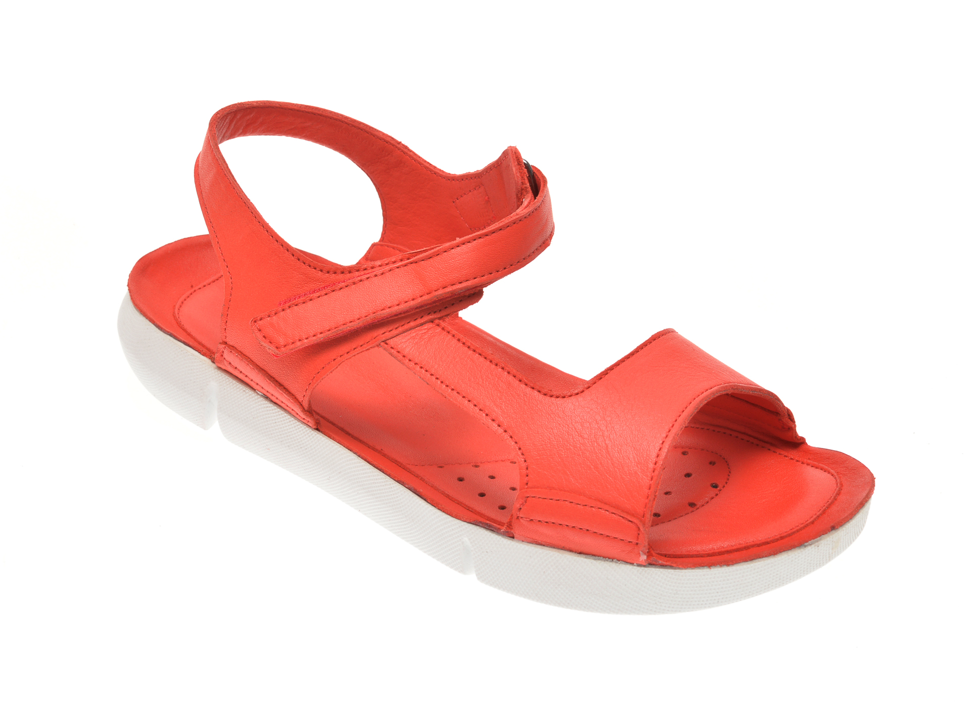 Sandale X TREND rosii, 6001, din piele naturala