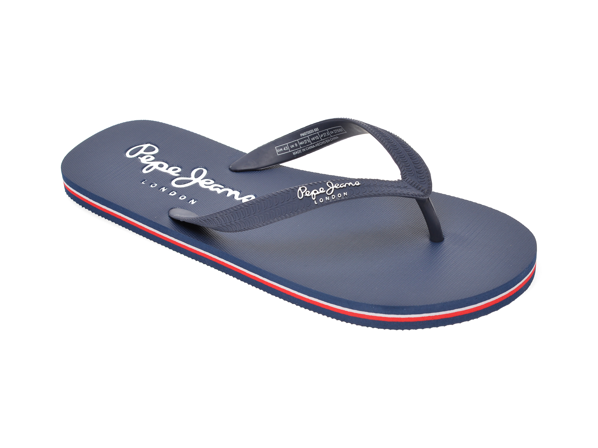 Slapi PEPE JEANS albastri, MS70035, din pvc imagine