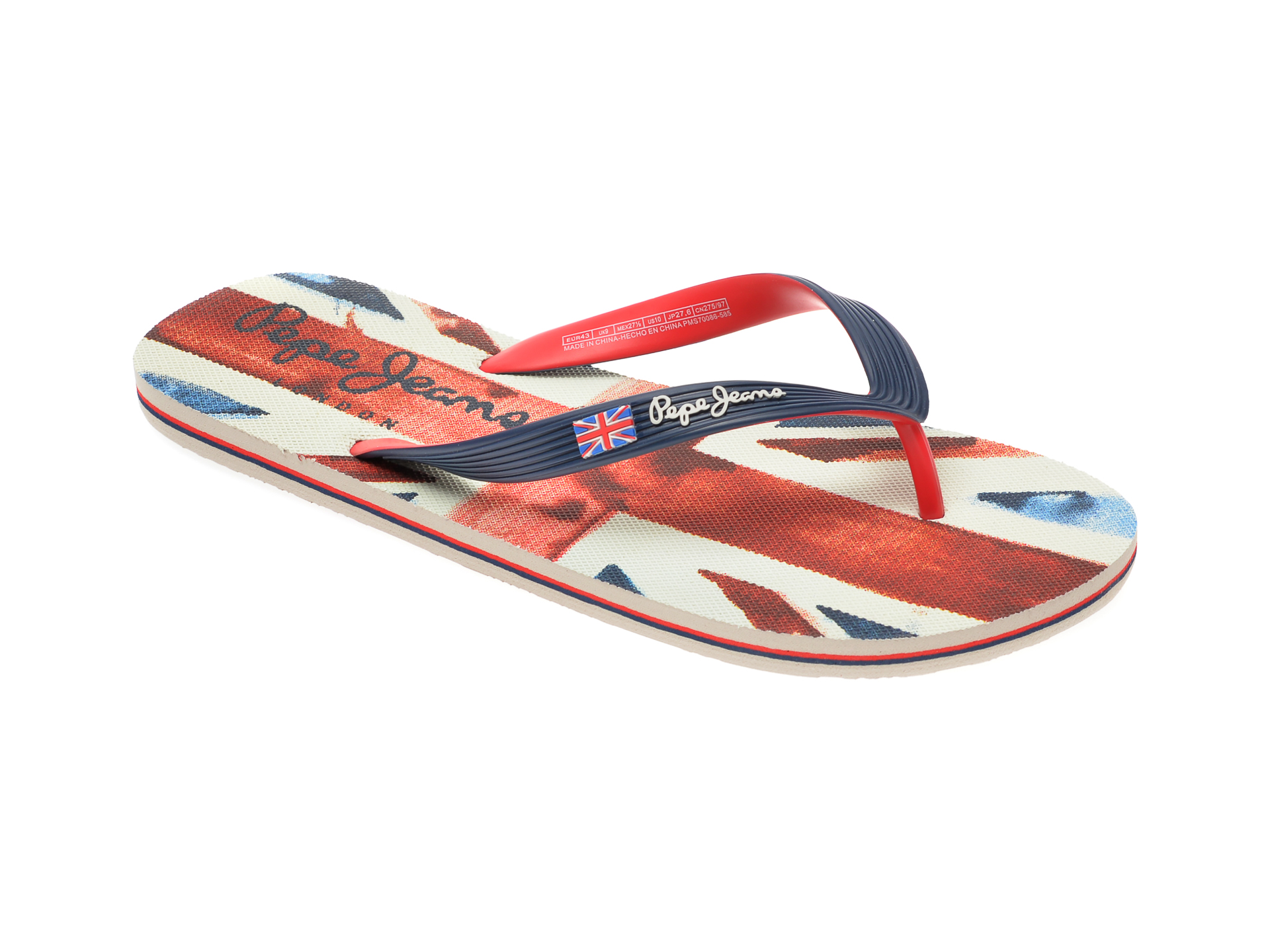 Slapi PEPE JEANS albastri, MS70086, din pvc imagine
