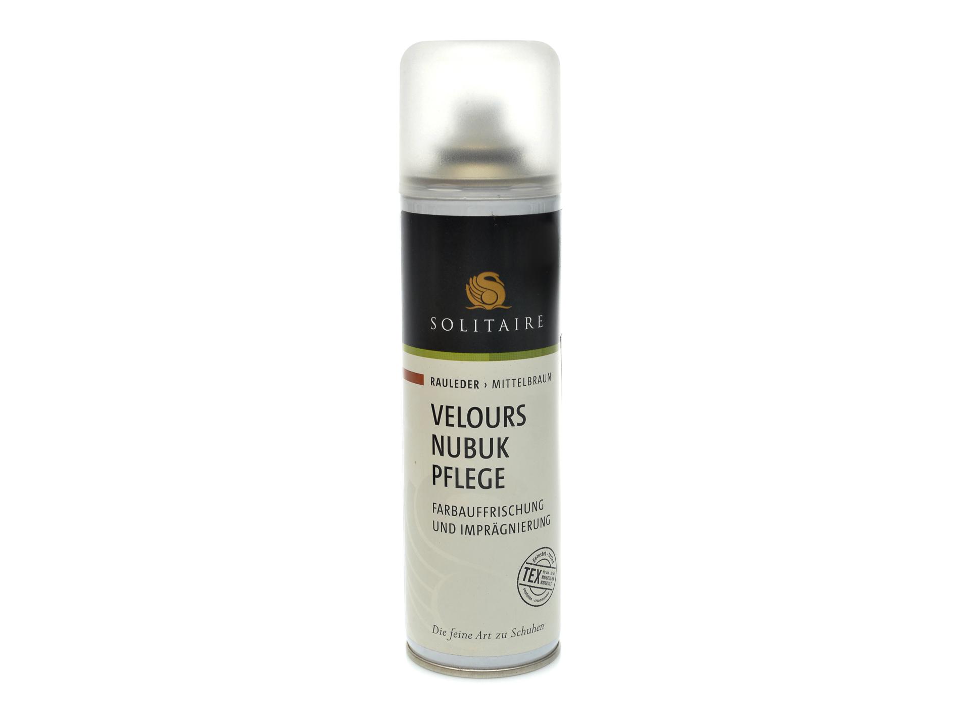 Spray intretinere velour nabuc, de culoare maro, Solitaire