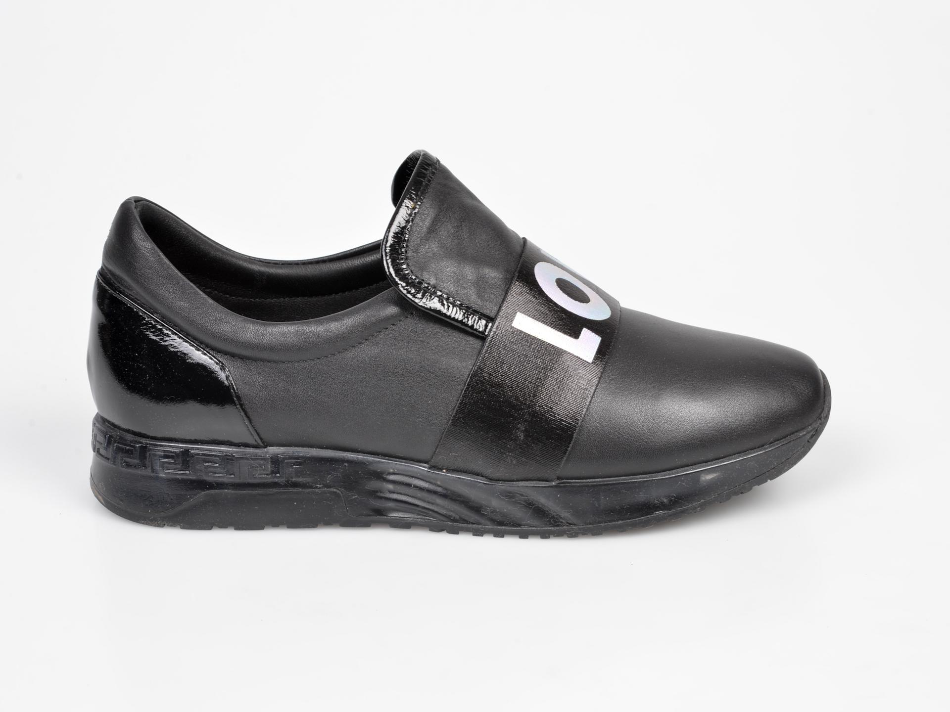 Pantofi FLAVIA PASSINI negri, NB416, din piele naturala