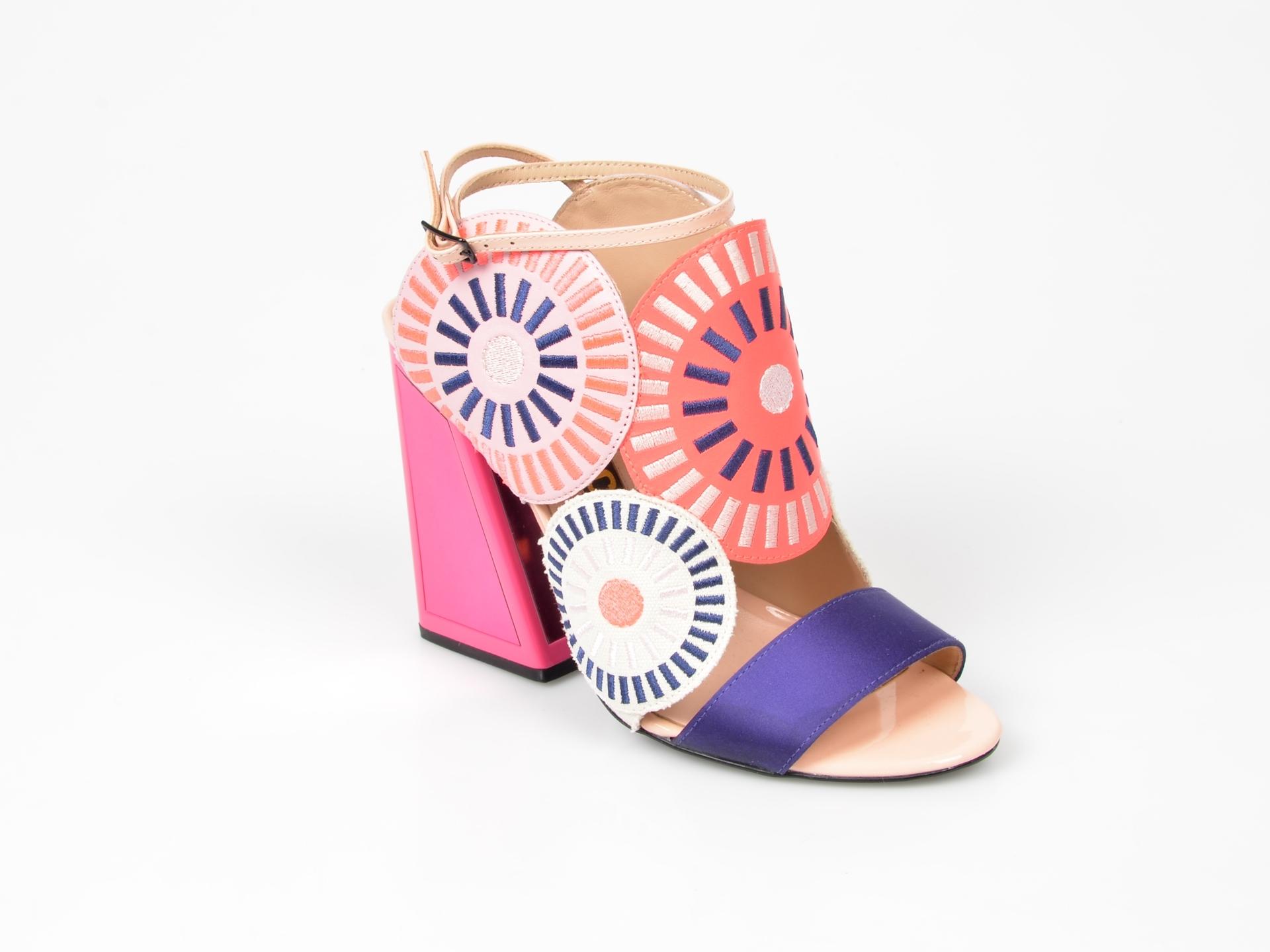 Sandale KAT MACONIE FOR EPICA roz, din piele ecologica