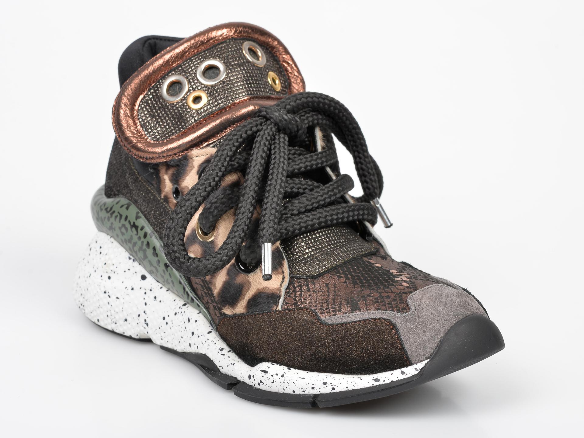 Pantofi Sport Flavia Passini Maro, 3002, Din Material Textil Si Piele Intoarsa